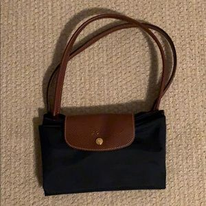 Longchamp navy classic tote bag